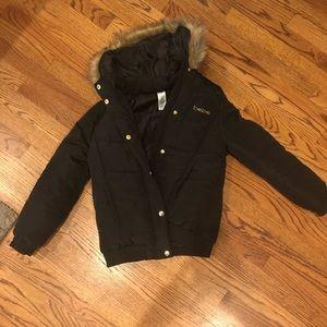Black Bebe raincoat